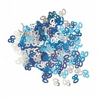 Blue Glitz Table Confetti - Age 80